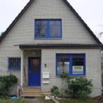 Holz-Aluminium Fenster blaue Aluminiumschale Erle-Massiv klar lackiert (4)