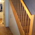 Holztreppe und Holzgeländer geschlossene Stufen Tischlerei Mohr Treppenbau Maßanfertigung Individuell (4)