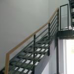 Metallgeländer Treppe mit Holzhandlauf Tischlerei Rendsburg-Büdelsdorf grau, wetter rendsburg, wetter eckernförde