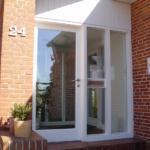 Praxis Eingangselement Eingangstür mit Glaselementen