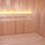 Sauna Beleuchtung indirekt LED Lichtleisten in Rückenlehne integriert (13)