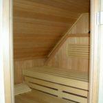 Sauna Dachschräge Sonderanfertigung Sylt (1)