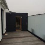 Sauna Dachterrasse anthrazit Außensauna Schweißbahnen Flachdach Bremen (10)