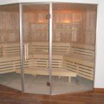 Sauna Sonderanfertigung Voll-Glasfront Erker Schrägform (4)