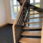 Sonderanfertigung Treppe Metall und Holz offen Tischlerei Mohr Rendsburg-Büdelsdorf